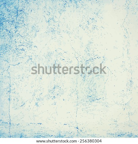 Blue grunge concrete wall texture or background.  - stock vector