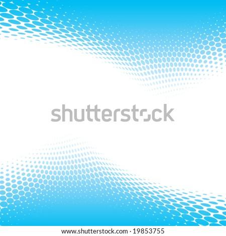 blue halftone background, vector illustration - stock vector