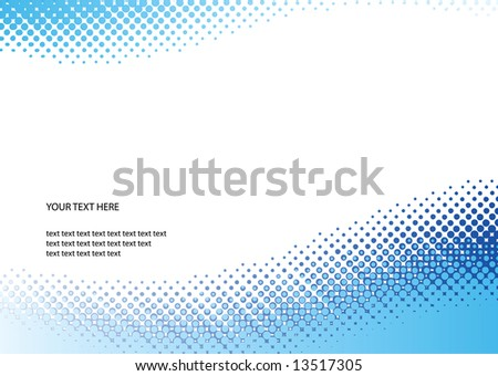 Blue halftone background. Vector illustration with space for text or logo - stock vector
