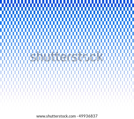 blue halftone rectangles on white background - stock vector
