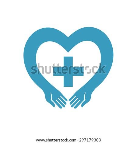 blue heart cross stock vector royalty free 297179303 shutterstock