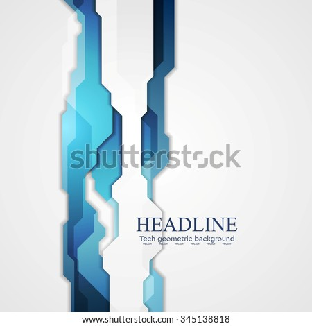 Blue hi-tech abstract background. Vector graphic drawing - stock vector