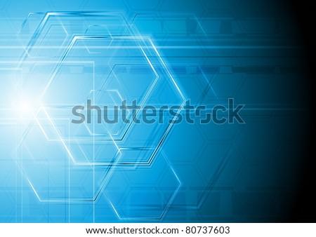 Blue hi-tech design. Vector illustration eps 10 - stock vector