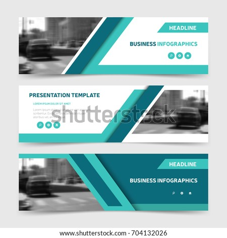 Blue horizontal business banner templates three stock vector blue horizontal business banner templates three corporate headers design for website advertisement and promotion flashek Images