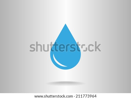 Blue icon on a gray background - stock vector