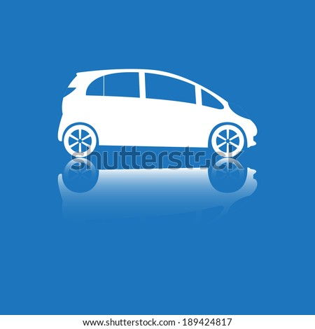 Blue icon with the image of car.