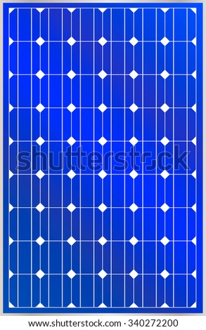 blue isolated solar panel