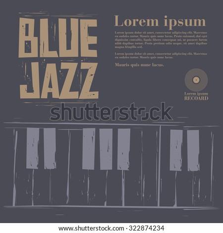 blue jazz vector - stock vector