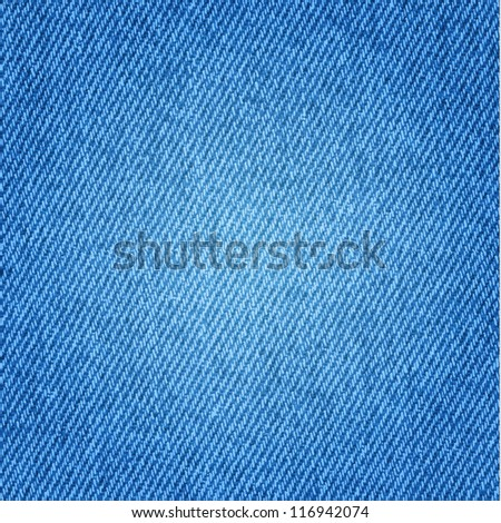 Blue jeans background - stock vector
