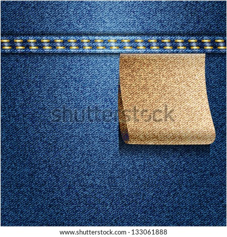 Blue jeans background. Vector texture