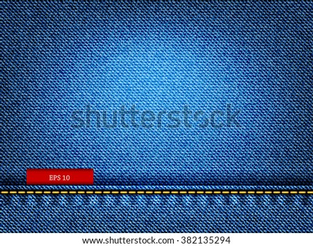 Blue Jeans Texture. - stock vector