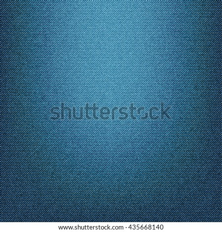 Blue jeans texture background - stock vector