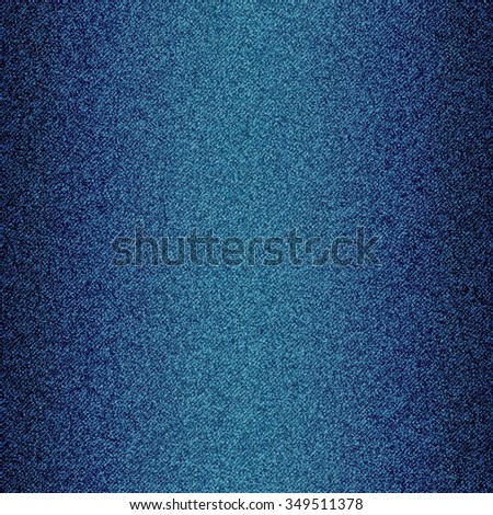 Blue jeans texture background. Vector illustration. - stock vector