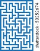 Blue labyrinth - stock photo