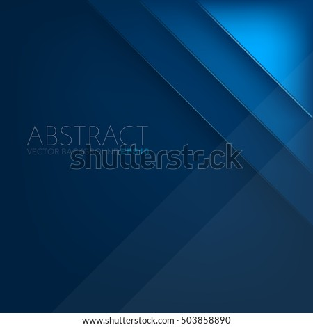 Blue layer vector background with space for design