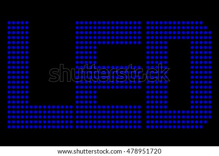 Blue LED Symbol, at Black Background