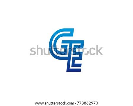 blue letter ge logo vector stock vector 2018 773862970 shutterstock rh shutterstock com ge logo vector download ge logo vector download
