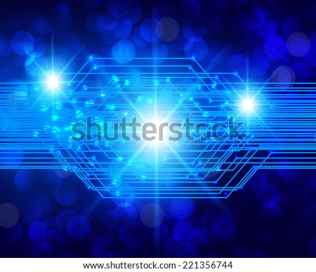 blue Light Abstract Technology background for computer graphic website and internet. Defocused Light, Flickering Lights, Vector abstract festive background with bokeh defocused lights. stars.