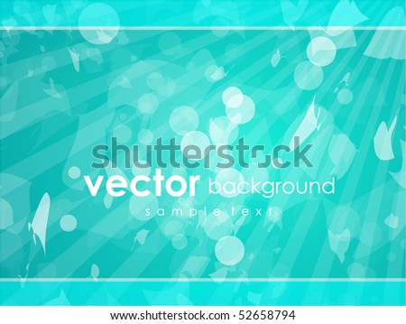 Blue light background. Abstract vector background.