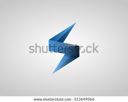 Blue Lighting Bolt Flash Logo Design Vector Element Fast Quick Rapid Icon Concept Symbol