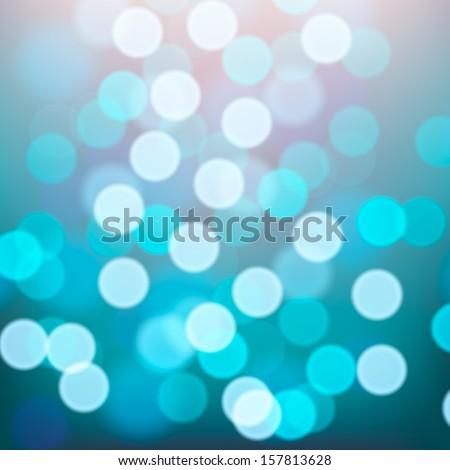 Blue lights blurred background, vector illustration.  - stock vector