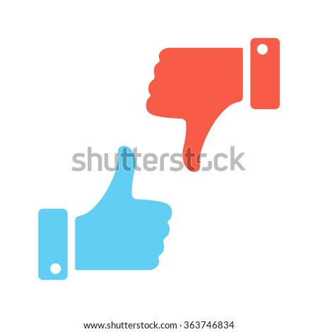 Blue like red dislike. Vector icons - stock vector