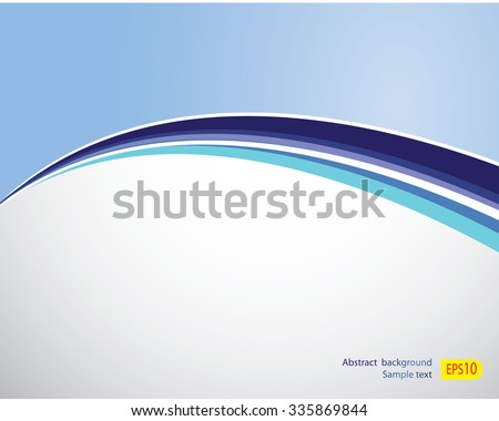 blue line abstract Background in eps10 - stock vector