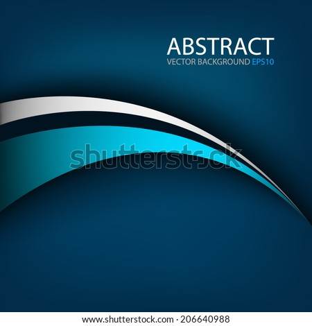 Blue line and grey line on blue background overlap layer paper for text and message modern website design - stock vector