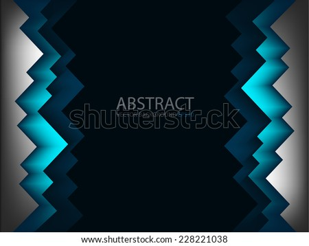 Blue line angle with grey color overlap layer paper on dark black space for text and message modern artwork design background - stock vector