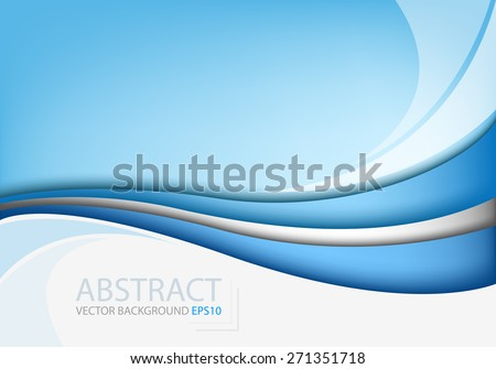 Blue line background vector curve with white space abstract for text and message modern artwork website design - stock vector