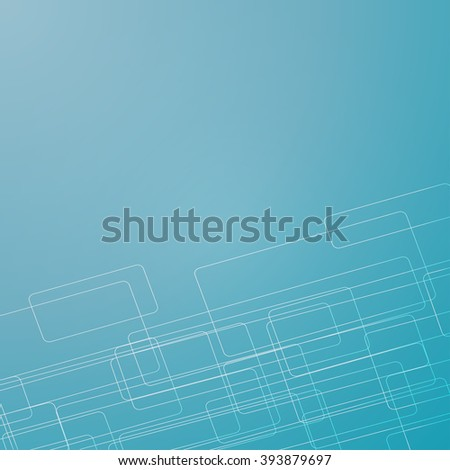 blue line rectangle background vector