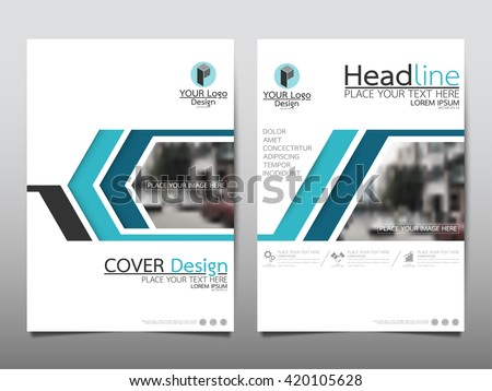 Blue line technology annual report brochure flyer design template vector, Leaflet cover presentation abstract geometric background, layout in A4 size - stock vector