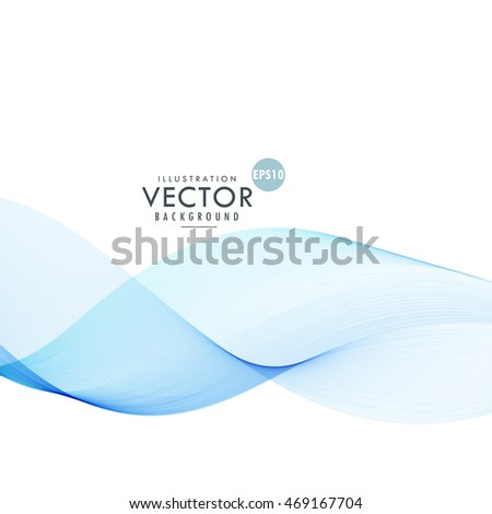 blue line wave abstract background