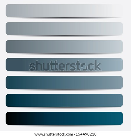 blue lines paper label design. vector illustration. from light to dark