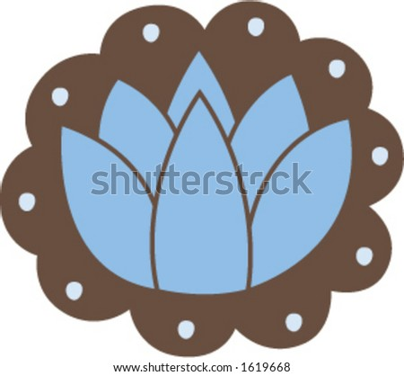 Blue Lotus Flower - stock vector