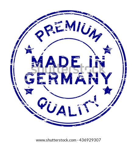 Blue made in Germany stamp