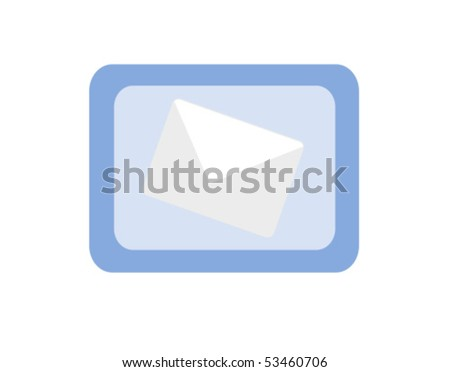 Blue mail icon illustration - stock vector