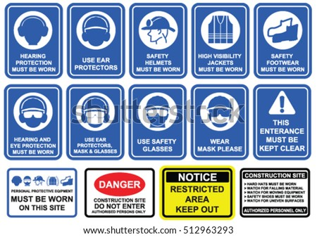 Safety signs stock images royalty free images vectors for Construction rules and regulations
