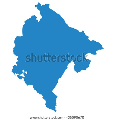 blue map of Montenegro - stock vector