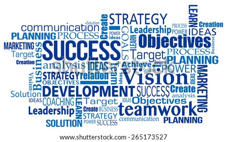 ... marketing business success concept word tag cloud illustration vecto