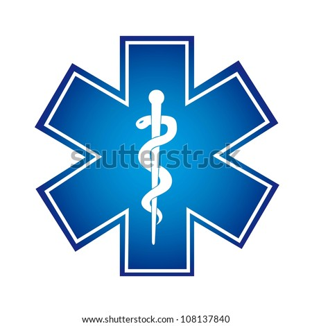 blue medical symbol isolated over white background. vector illustration - stock vector