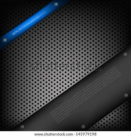 blue metal background pattern texture grey metal steel message board for text and message design