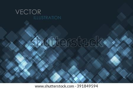 Blue Modern Business Card Set. Vector Illustration. Clip-art - stock vector