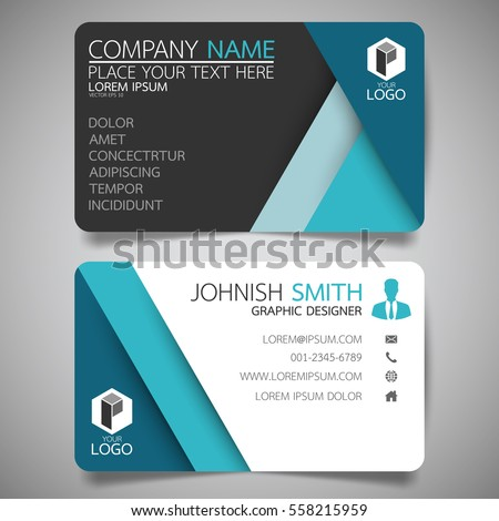 Blue modern creative business card name stock vector 558215959 blue modern creative business card and name cardhorizontal simple clean template vector design reheart Image collections