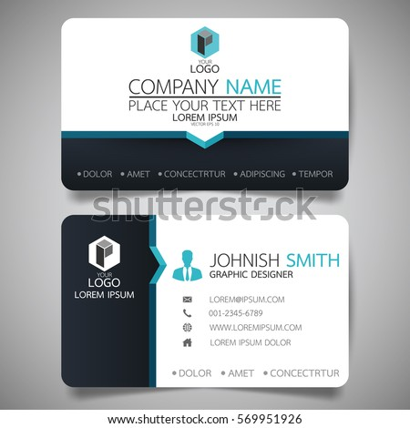 Blue modern creative business card name stock vector 569951926 blue modern creative business card and name cardhorizontal simple clean template vector design fbccfo