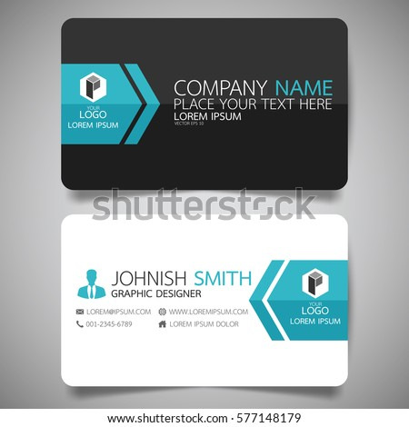 Vetor stock de blue modern creative business card name livre de blue modern creative business card and name cardhorizontal simple clean template vector design reheart Images