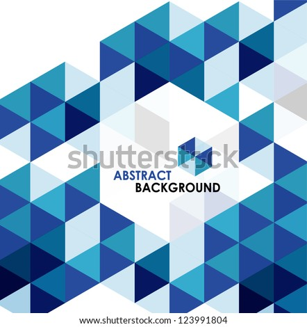 Blue modern geometric design template. Vector abstract background