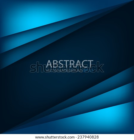 Blue modern vector background overlap multi paper lighting square for text and message website design - stock vector