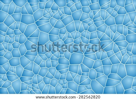 Blue mosaic background looking like soap bubbles surface - stock vector
