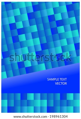 blue mosaic background with place for your text - stock vector